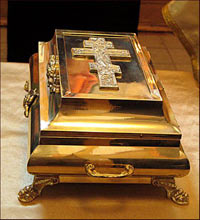 The tabernacle with the relic of St. Seraphim